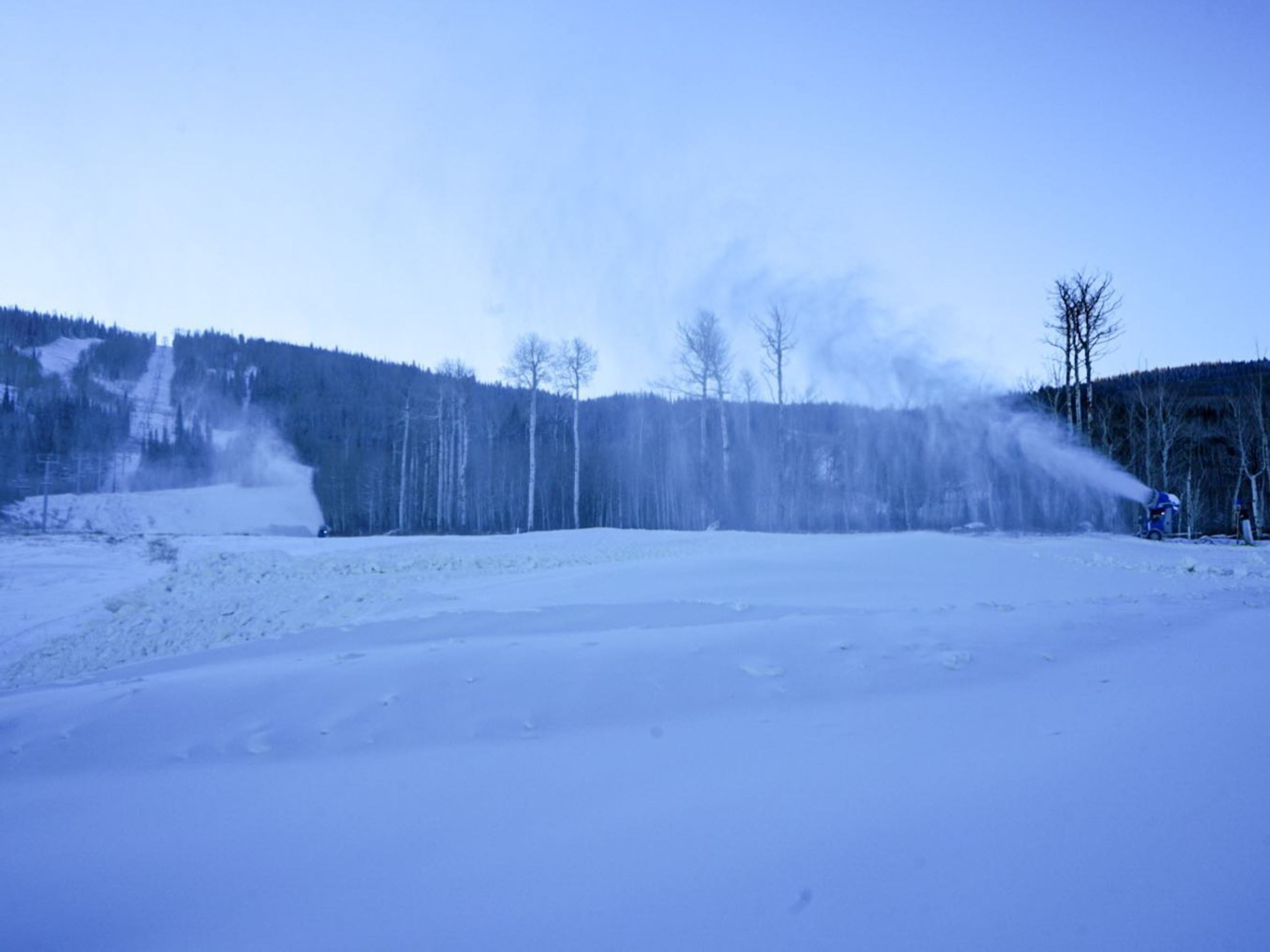 Snowmaking machine at Powderhorn Ski Resort