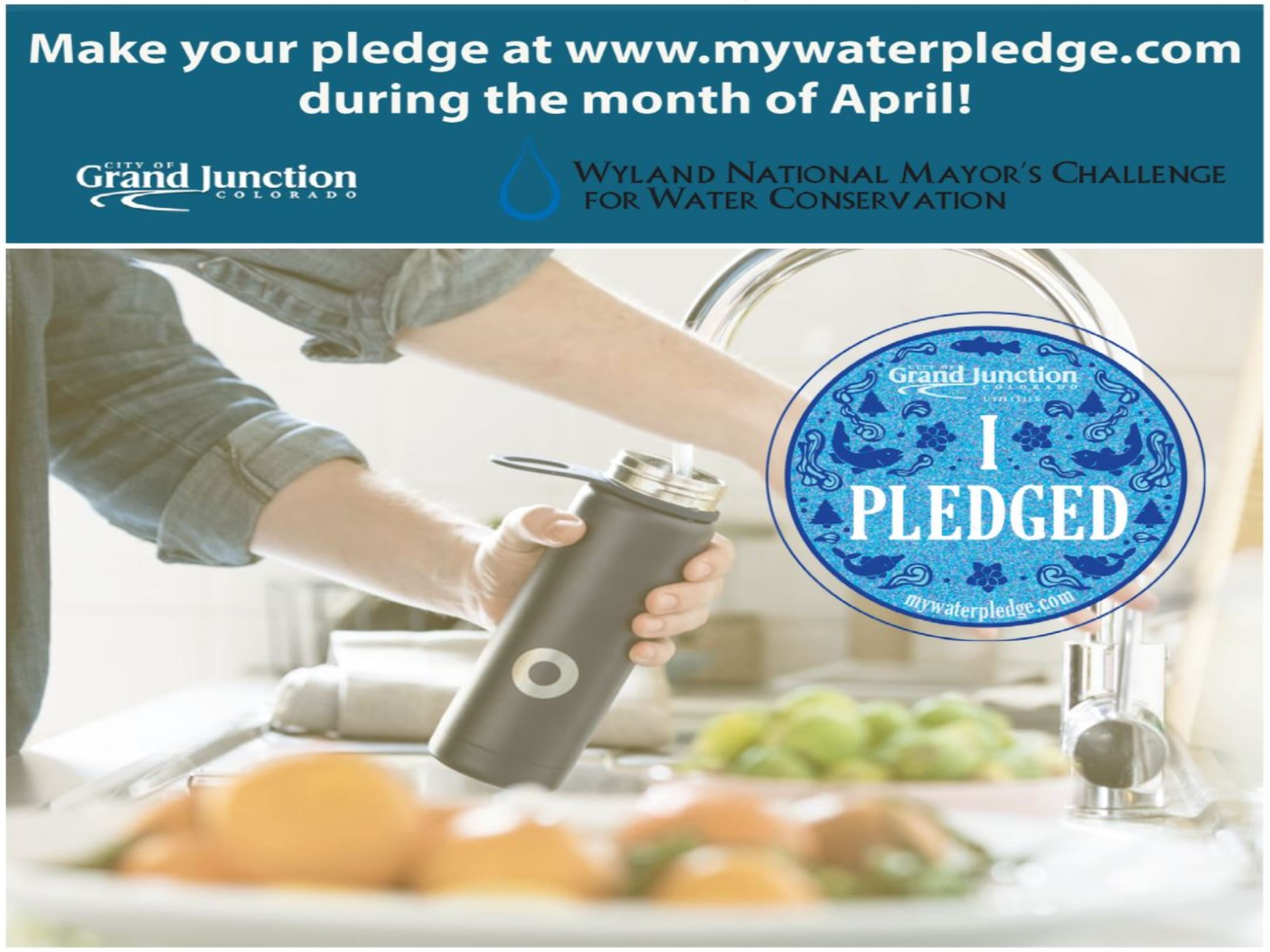 Wyland Water Pledge (woman filling water bottle)