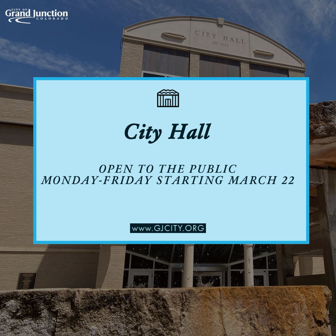 City Hall open regular business hours graphic