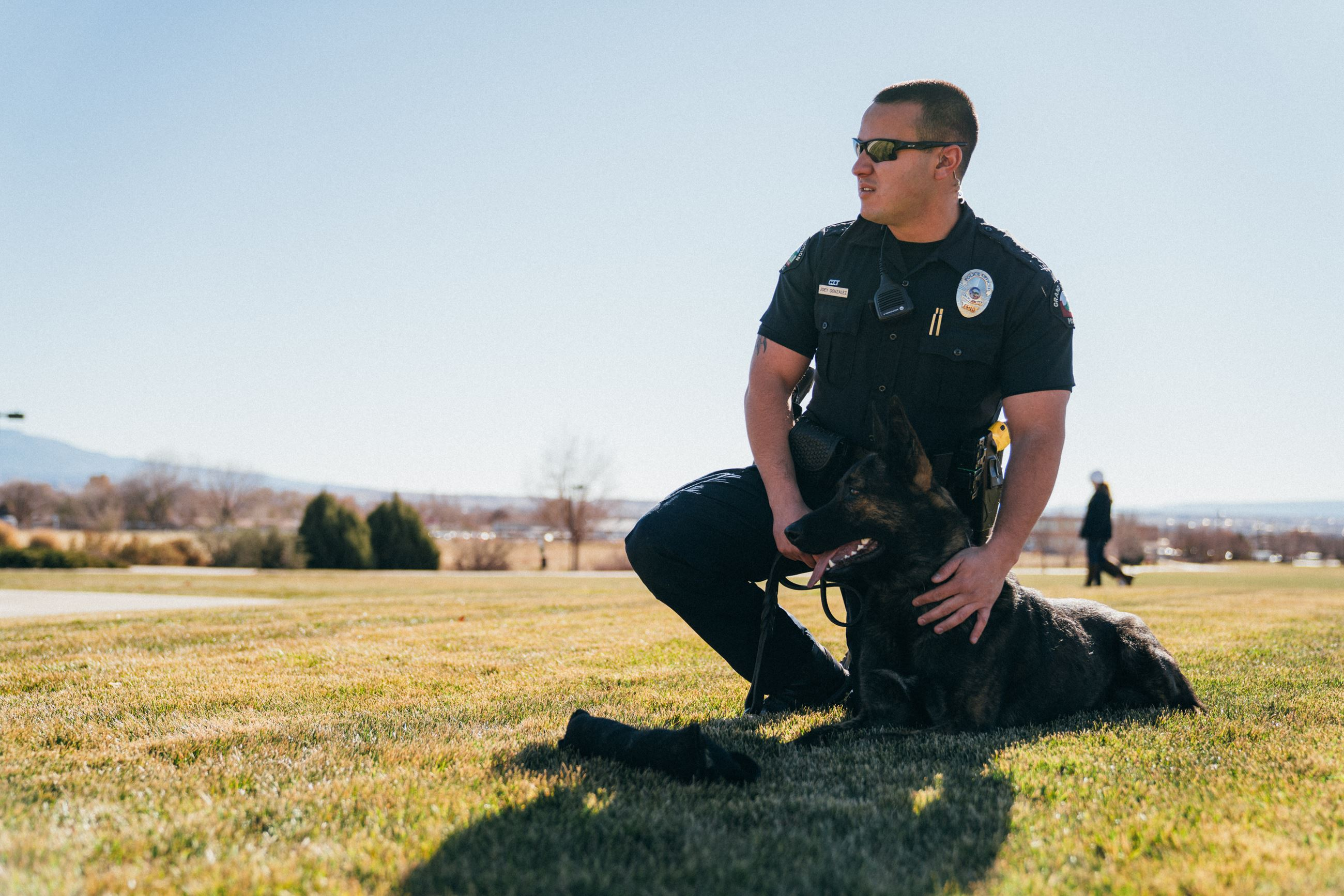 Officer Gonzales with his K9 partner Merlin