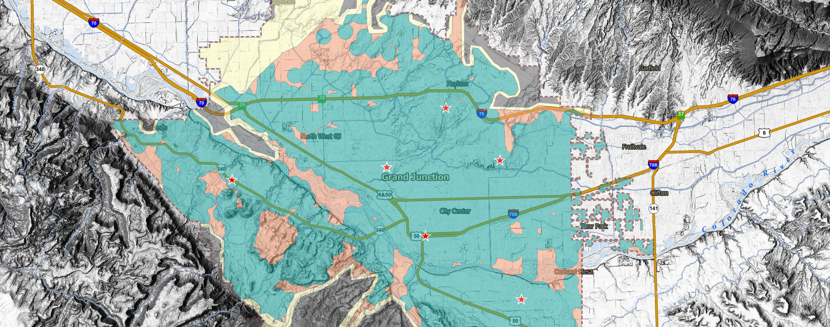 Map of Grand Junction